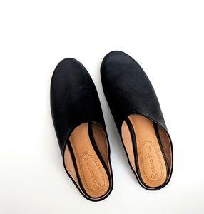 Corso Como Brianna Black Leather Mules